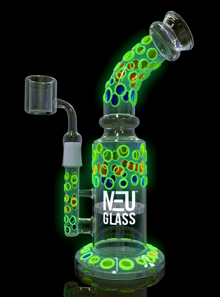 NEU Concentrate Rig Honeycomb UV & Glow in the Dark 8""