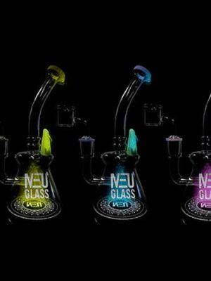 NEU Concentrate Rig UV Cone & Horn Drip (7″)